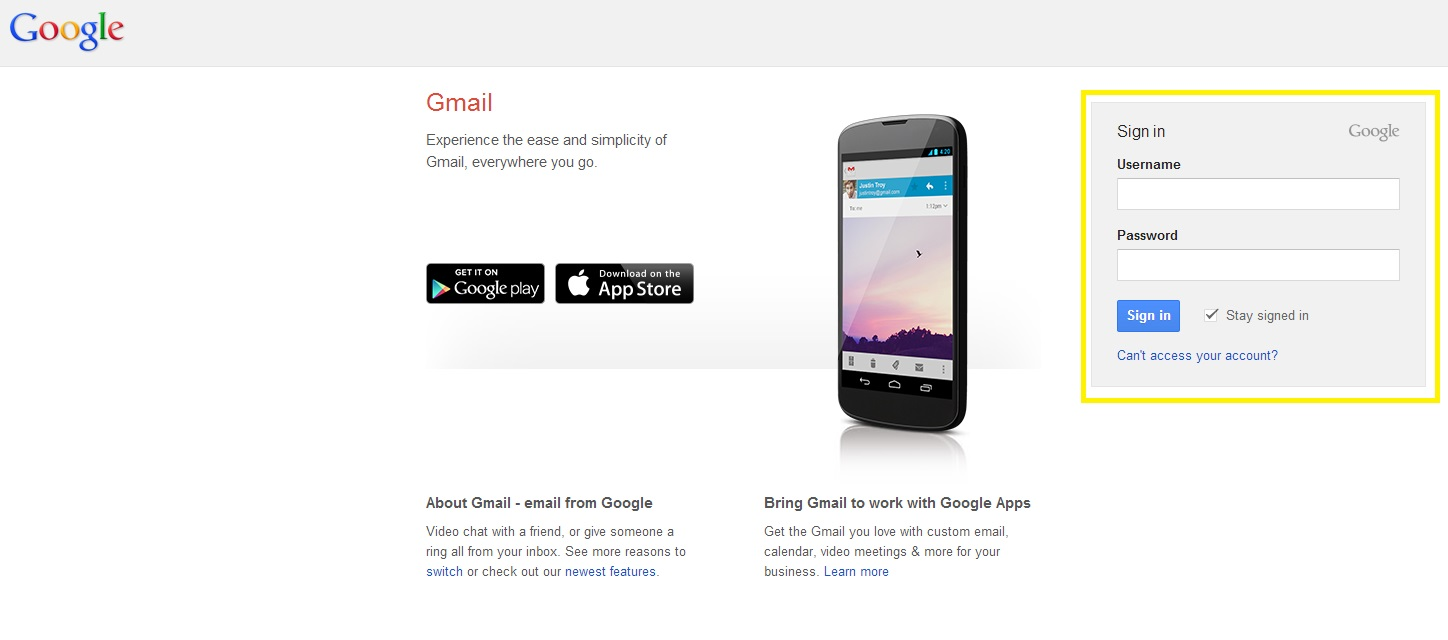 Next, log in to your Gmail